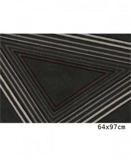 Tapis Living Mats anti-dérapant Noir-Geek 64x97 cm LM063-71-MM