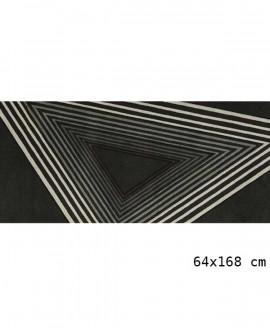 Tapis Living Mats anti-dérapant Noir-Geek 64x168 cm LM063-71-GM