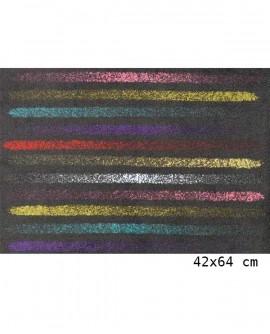 Tapis Living Mats anti-dérapant Noir-Flow 42x64 cm LM054-75-PM