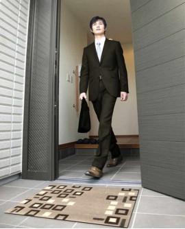 Tapis Living Mats anti-dérapant Square 42x64 cm LM043-65-PM