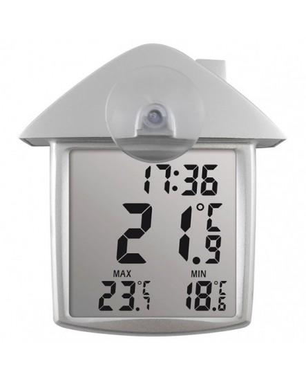Thermomètre solaire digital