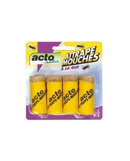 Ruban Attrape mouches x4 ACTO