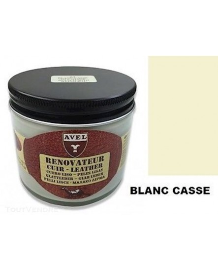 Baume rénovateur cuir AVEL Blanc Cassé
