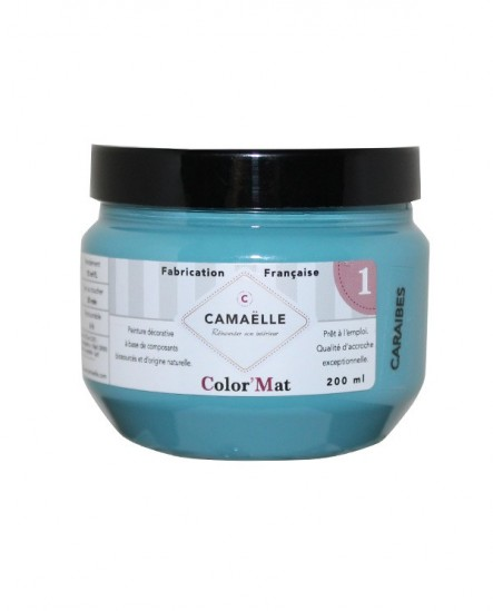 Peinture ColorMat CAMAELLE Bleu Caraïbes 200ml