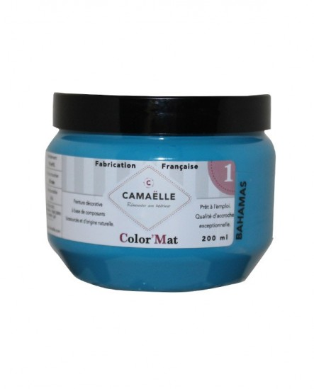 Peinture ColorMat CAMAELLE Bleu Bahamas