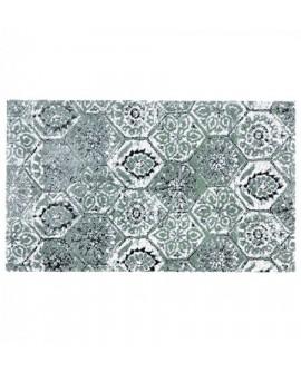 Tapis coton KOLAGE aqua 50x80 cm Akouarel
