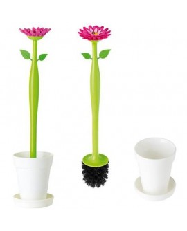 Set Brosse WC Flower Blanc Vigar