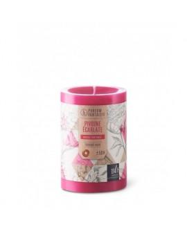 Bougie parfumée Pivoine écarlate rose
