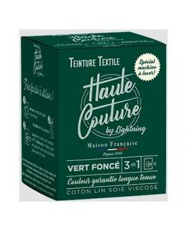 Teinture Textile Haute Couture Vert Foncé