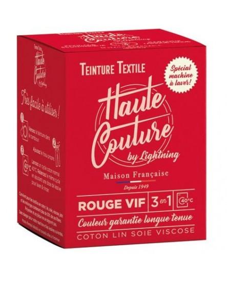 Teinture Textile Haute Couture Rouge Vif