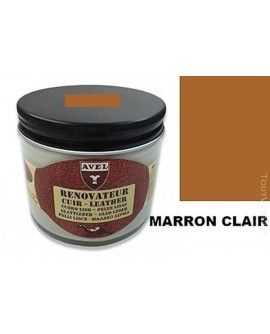Baume rénovateur cuir Marron Clair AVEL