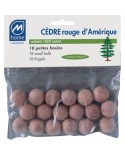 Boules Cèdre rouge Anti-mite x18