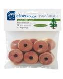 Anneaux cèdre rouge anti-mites x12
